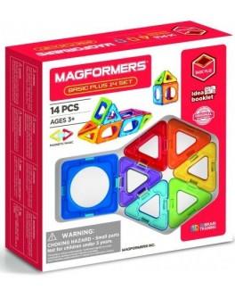 Магнітний конструктор Magformers Базовий плюс, 14 елементів - ITT 715013