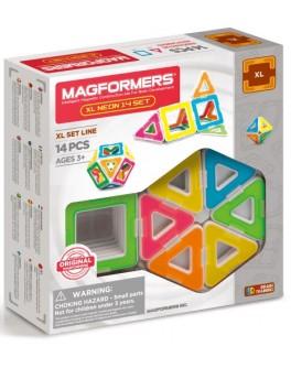 Магнітний конструктор Magformers XL Неон, 14 елементів - ITT 706005