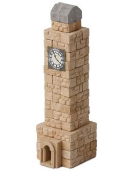 Конструктор з керамічних цеглинок Башта з годинником, 80 деталей - esk 70712