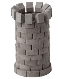Конструктор з керамічних цеглинок Кругла вежа, 90 деталей - esk 70705