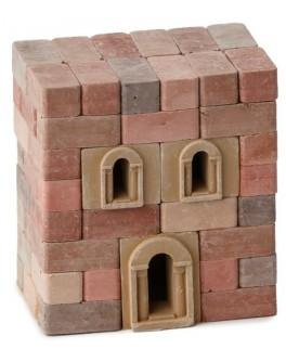 Конструктор з керамічних цеглинок Будівля, 70 деталей - esk 70682