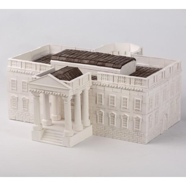 Конструктор з керамічних цеглинок Білий дім, 960 деталей - esk 70507