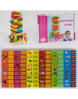 Деревянная игра Дженга детская с Животными - igs С 39249