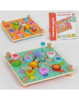 Деревянная игра Лабиринт с песочными часами C 40003 - igs C 40003