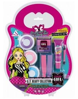 Набір дитячої косметики c крейдою для фарбування волосся Fashion girl (J-204) - mlt J-204