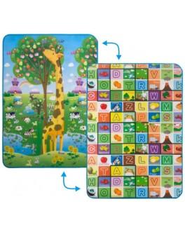Дитячий двосторонній килимок Limpopo Велика жирафа та Барвиста абетка, 120х180 см - SGR LP012-120
