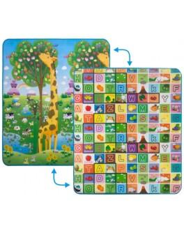 Дитячий двосторонній килимок Limpopo Велика жирафа та Барвиста абетка, 150х180 см - SGR LP012-150