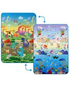 Дитячий двосторонній килимок Limpopo Динозаври та Підводний світ, 120х180 см - SGR LP013-120