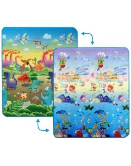Дитячий двосторонній килимок Limpopo Динозаври та Підводний світ, 150х180 см - SGR LP013-150