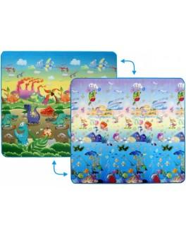 Дитячий двосторонній килимок Limpopo Динозаври та Підводний світ, 200х180 см - SGR LP013-200