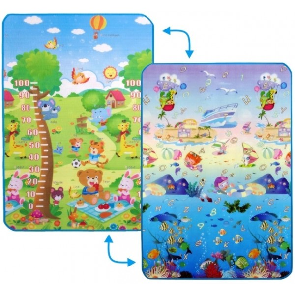 Дитячий двосторонній килимок Limpopo Сафарі-пікнік та Підводний світ, 120х180 см - SGR LP010-120
