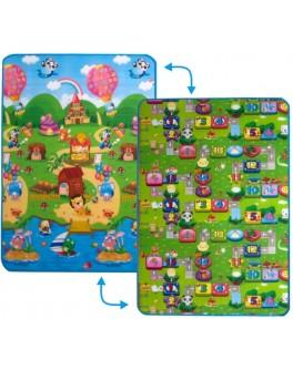Дитячий двосторонній килимок Limpopo Сонячний день та Кольорові циферки, 120х180 см - SGR LP003-120
