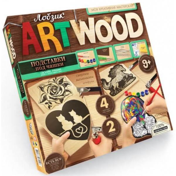 Набір для творчості Danko Toys Artwood Вирізання лобзиком Підставка під чашку - mlt Artwood 2