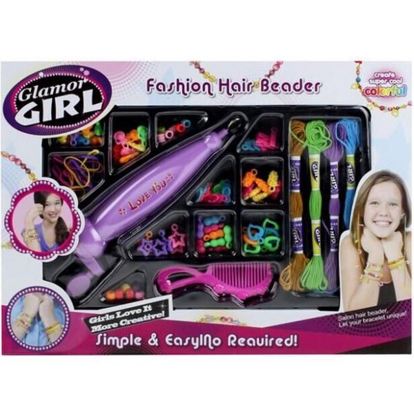 Набір для прикраси волосся бісером Glamor Girl 802 - igs 802