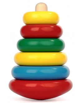 Деревянная игрушка пирамидка Макси, Komarovtoys - Kom 304