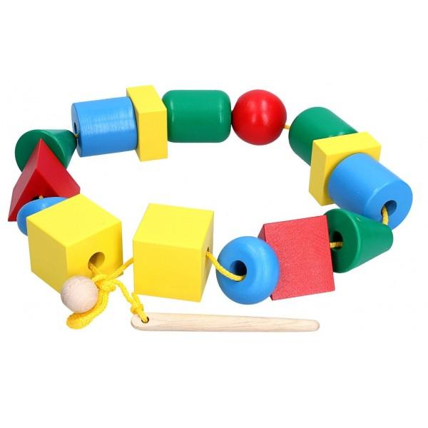 игрушка шнуровка Бусы макси, KomarovToys