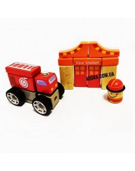 Деревянные звуковые блоки Top Bright Пожарная станция - top b 150176