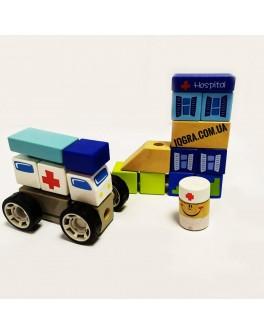 Дерев'яні звукові блоки Top Bright Лікарня - top b 150178