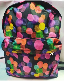 Рюкзак подростковый мягкий Пузырьки с карманом - mlt 0592-B