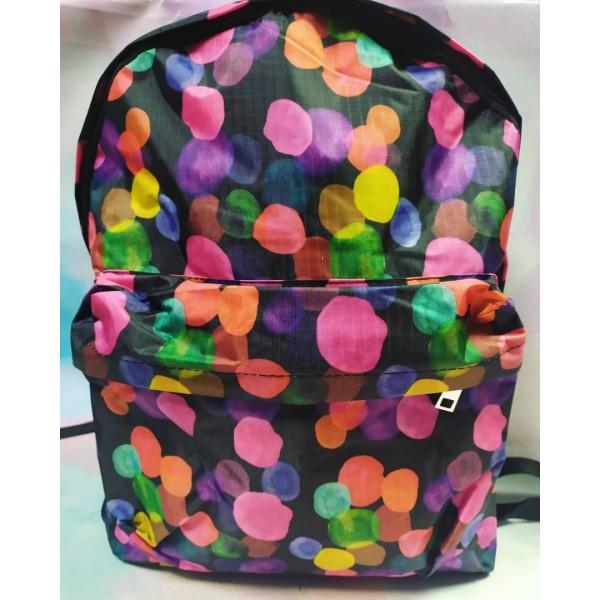 Рюкзак підлітковий м'який Бульбашки з кишенею - mlt 0592-B