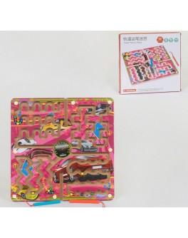 Дерев'яна гра Лабіринт магнітний з кульками Автомобілі C 39990
