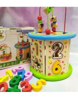Дерев'яна розвиваюча іграшка Wooden Toy Сортер пальчиковий лабіринт (С 37672)