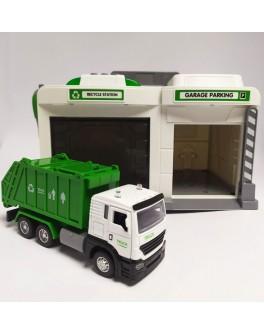 Игровой набор Гараж с мусоровозом CLM Engineering Caller Garage 2 вида (CLM-552)
