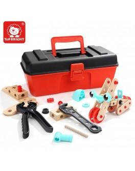 Конструктор дерев'яний з інструментами в валізі Top Bright (120390)