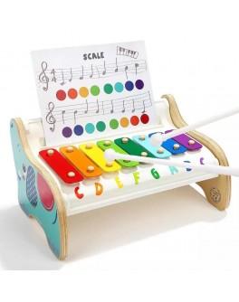 Деревянная игрушка Ксилофон слонёнок с нотами Top Bright (120407)