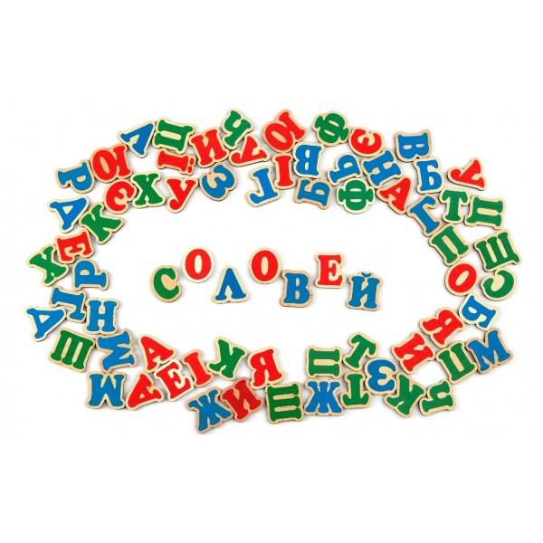Украинский алфавит на магнитах комаровтойс