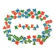 Російський алфавіт дерев'яний на магнітах 72 шт. Komarovtoys - kom J705
