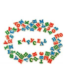 Русский алфавит деревянный на магнитах 72 шт. Komarovtoys - kom J705