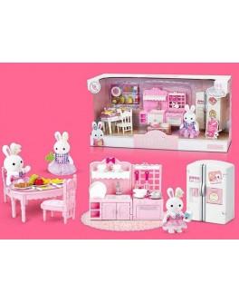 Набор мебели Счастливая семья с флоксовым животным Кухня (6617)