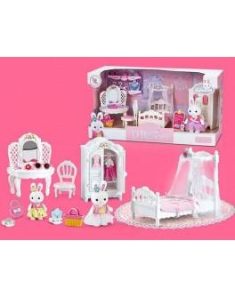 Набор мебели Счастливая семья с флоксовым животным Спальня (6616)