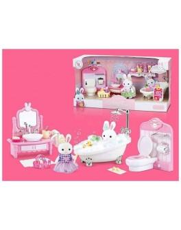 Набор мебели Счастливая семья с флоксовым животным Ванная (6620)