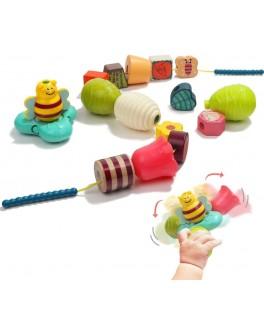 Развивающая игрушка шнуровка Top Bright Весенняя вечеринка 16 элементов (120444)