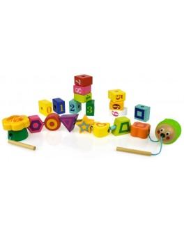 Развивающая игрушка шнуровка Top Bright Весенняя вечеринка 20 элементов (120306)