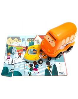 Дерев'яні пазли Top Bright в шкільному автобусі 25 деталей (130909)