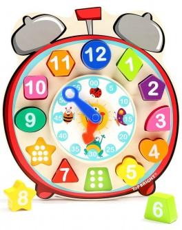Розвиваюча іграшка Top Bright Дерев'яний годинник, сортувальник форм (120351)
