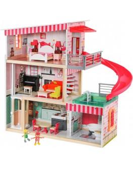 Дерев'яний ляльковий будиночок Top Bright з меблями і ліфтом (120426)