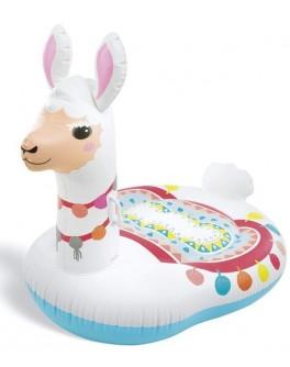 Дитячий надувний плотик Intex Мила лама 135x112 см (57564)