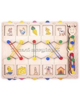 Дерев'яна іграшка половинки Будиночки асоціації Розумний Лис