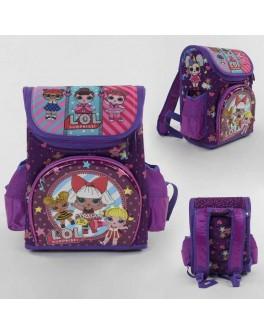 Рюкзак шкільний каркасний L.O.L. з 3D принтом, 1 відділення, 3 кишені, ортопедична спинка (С 43646)