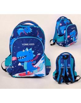 Рюкзак шкільний 1 відділення, 2 кишені, ортопедична спинка (С 43527)