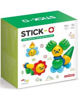 Магнитный конструктор Stick-O. Лесные друзья, 16 элементов (902002)