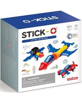Магнітний конструктор Stick-O. Місто, 16 елементів (902003)