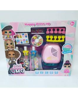 Маникюрный набор для девочек O.M.G. с сушкой для лака (CS 68 E 13)