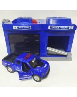 Ігровий набір Гараж з поліцейською машиною CLM Engineering Caller Garage (CLM-556)