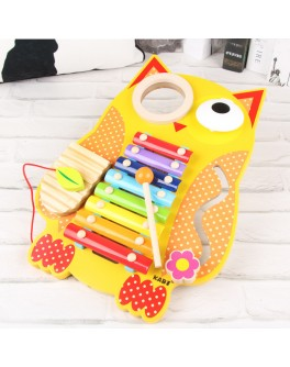 Деревянная игрушка бизиборд ксилофон Сова MD 1302 - mpl MD 1302