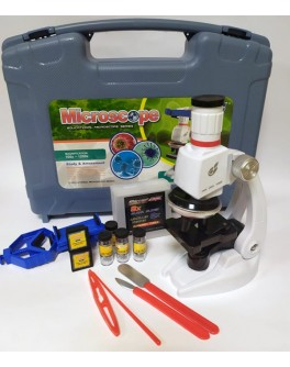 Микроскоп детский 100Х-400Х-1200Х с аксессуарами в чемодане (C2172)